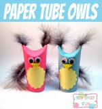 Cute Paper Tube Owls