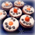 Sweet Snowmen mini doughnuts