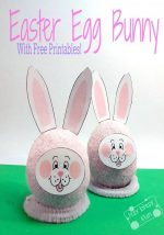 Easter Egg Bunnies With Printable Stickers!