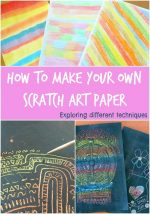 How to make your own scratch art paper
