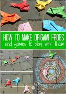How to make origami frogs