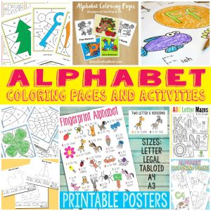 Alphabet Coloring Pages and Activities