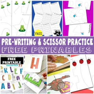 Lots of Pre-Writing and scissor practice printables