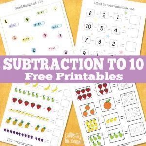 Subtraction to 10? We've got new worksheets