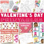 Valentines Day Fun – V-day Printables for Kids