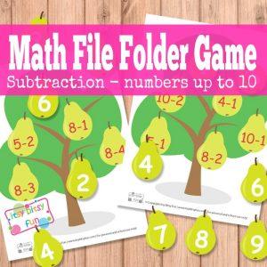 Pear tree file folder games