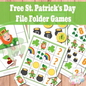 St. Patrick's day file folder games