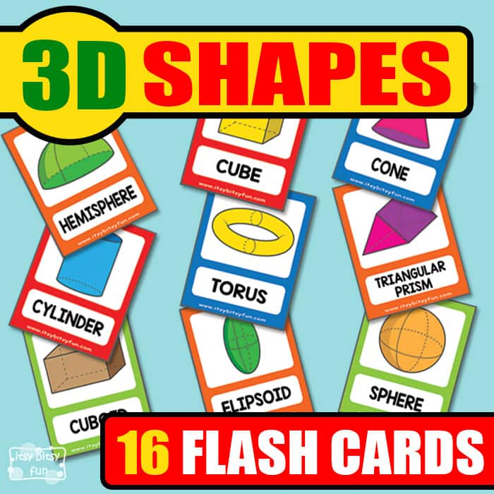 Free Printable 3D Shapes Flashcards