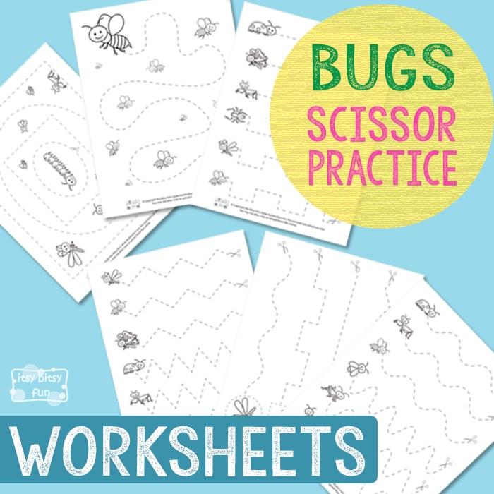 Free Bugs Scissor Practice Worksheets