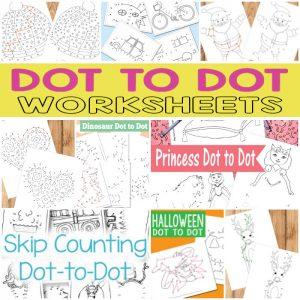 Printable Dot to Dot Worksheets for Kids