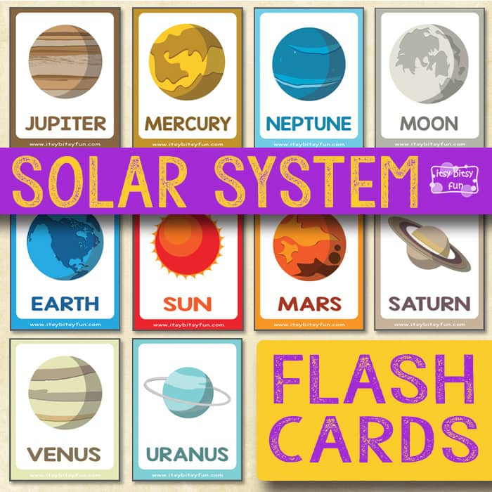 Solar System Flashcards - Itsy Bitsy Fun