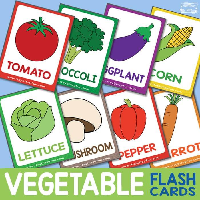Free Printable Vegetable Flashcards