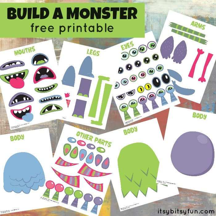Printable Build Monster Itsy Bitsy Fun