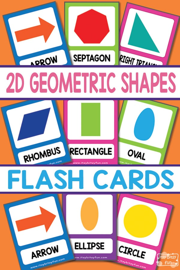 Free Printable 2D Shapes Flashcards for Kids