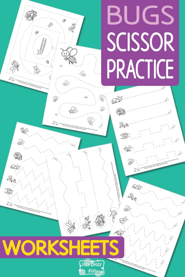 Lovely Bugs Scissor Practice Worksheets