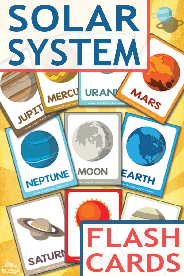 printable solar system flash cards - photo #22