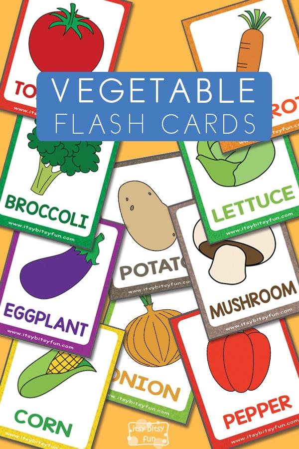 Fun Free Printable Vegetable Flashcards