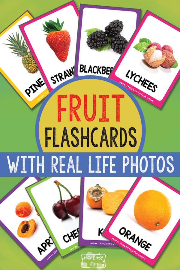 Free Printable Fruit Flashcards with Real Life Photos