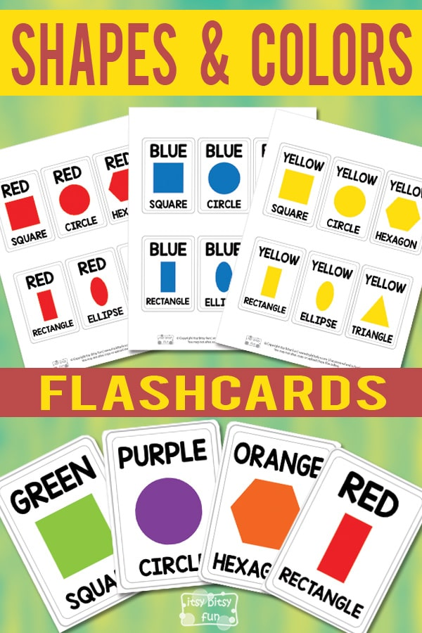 Lovely Shapes and Colors Flashcards