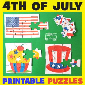 4th of July Printable Puzzles for Kids