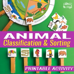 Animal Classification and Sorting Printable Activity