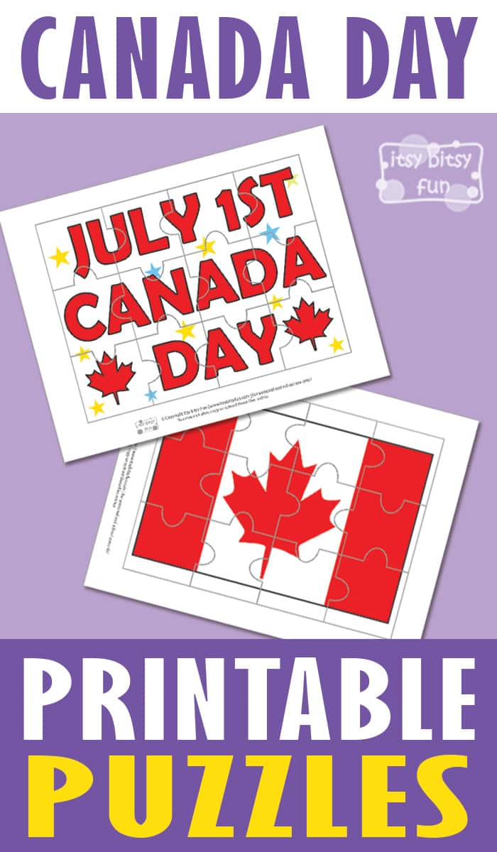 Canada Day Free Printable Puzzles for Kids