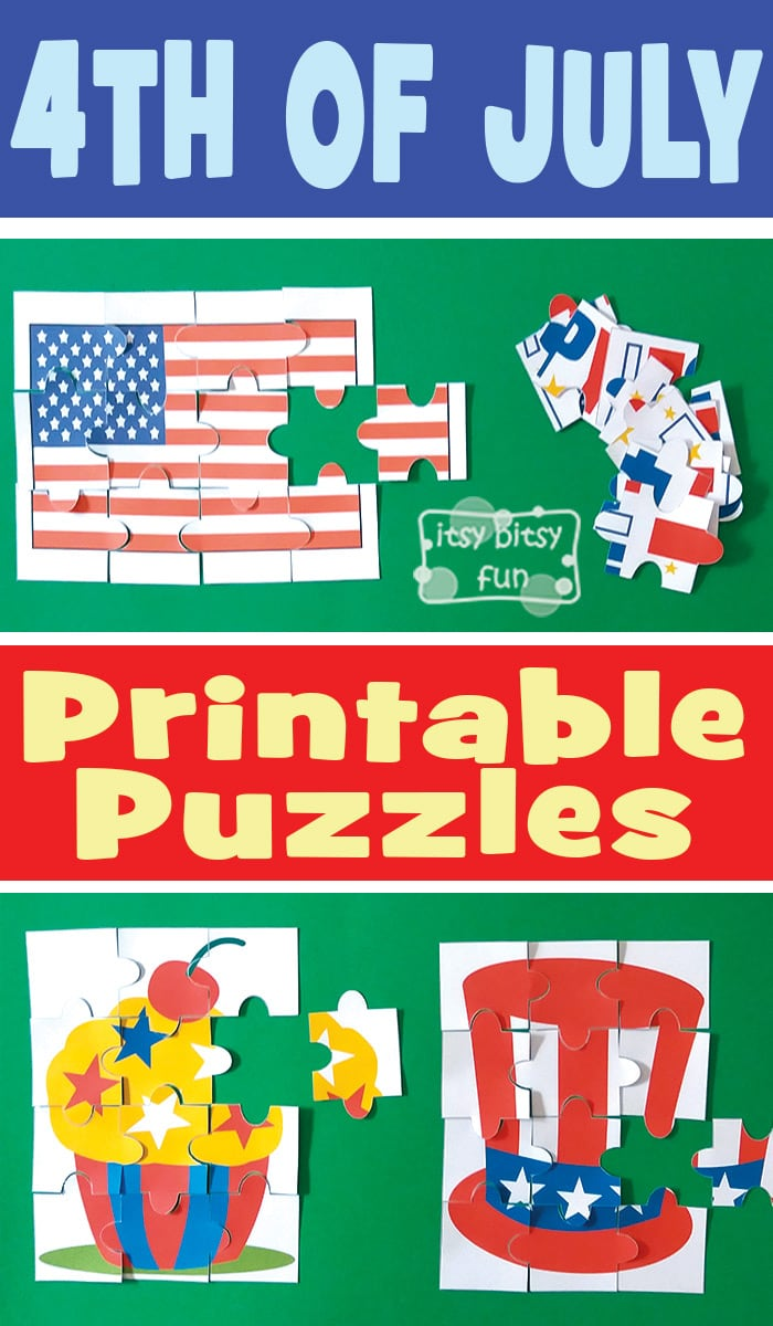 Fun 4th of July Printable Puzzles for Kids