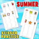 Summer Scissor Practice Sheets