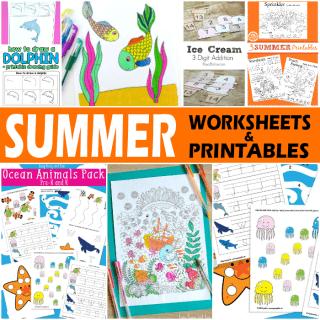 Summer Worksheets and Printables