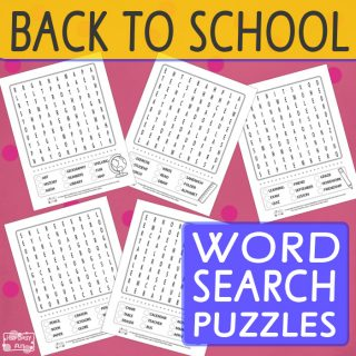 Back to School - Fun Word Search Puzzles