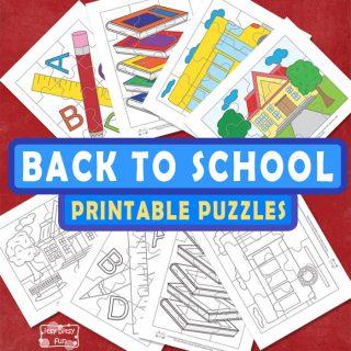 Fun Back to School Printable Puzzles