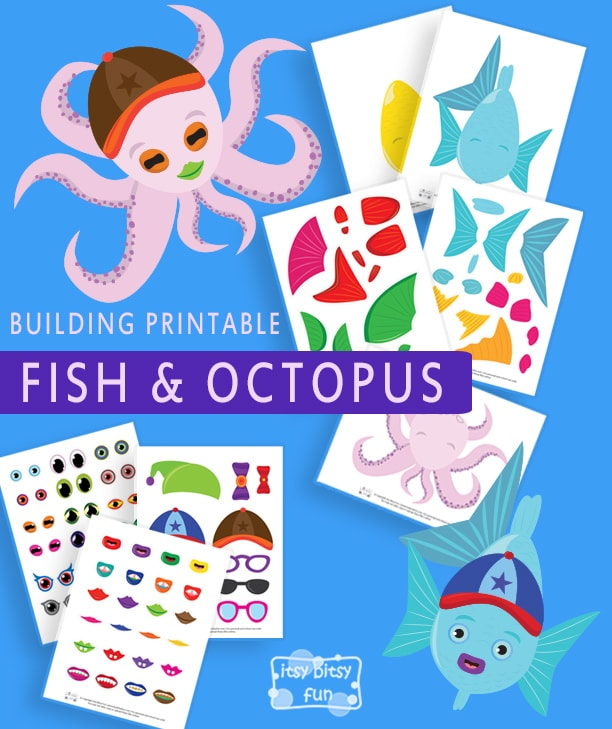 Lovely Build a Fish and an Octopus Printable