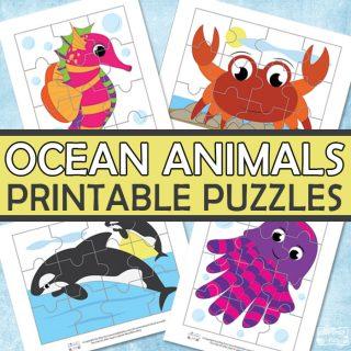 Ocean Animals Printable Puzzles