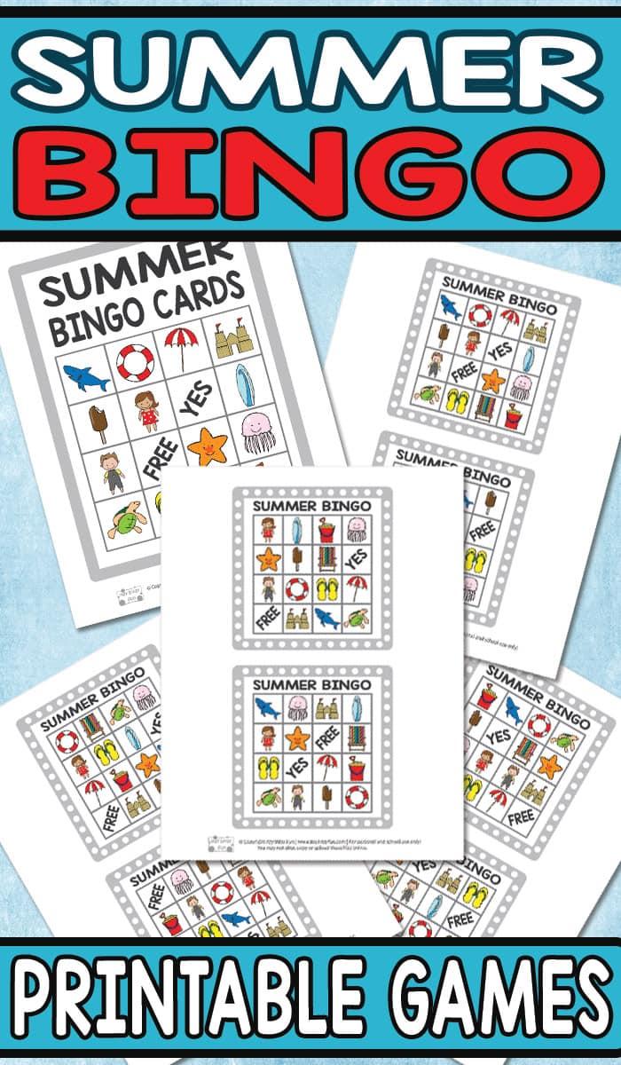 Free Printable Summer BINGO Game for Kids