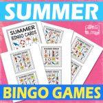 Printable Summer Bingo Game for Kids