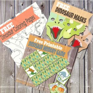 I've got dinosaur Printables to share!