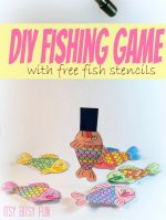 DIY Fun Fishing Game For Kids With Stencils
