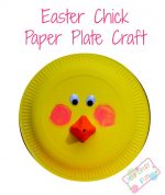Easter Chick Paper Plate Craft