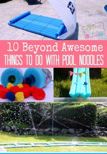 10 Beyond Awesome Pool Noodle Activities