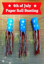 Toilet Paper Roll Craft Independence Day Bunting