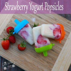 Strawberry Yogurt Popsicles Recipe