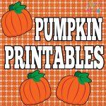 New Free Pumpkin Printables