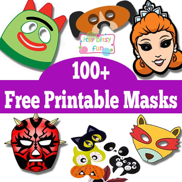 photograph regarding Free Printable Masks named More than 100 Free of charge Printable Masks for Young children - Itsy Bitsy Pleasurable