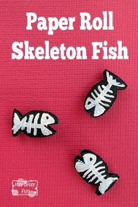Paper Roll Skeleton Fish
