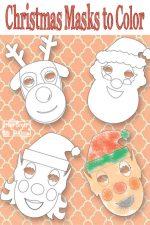 Printable Christmas Masks Update