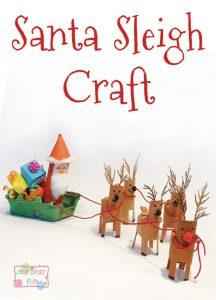 Christmas Santa Sleigh Craft