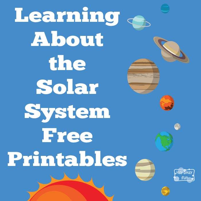 Free Worksheets preschool reading worksheets free : Learning About Solar System Part One - Itsy Bitsy Fun
