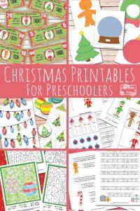 New Christmas Printables for Preschool