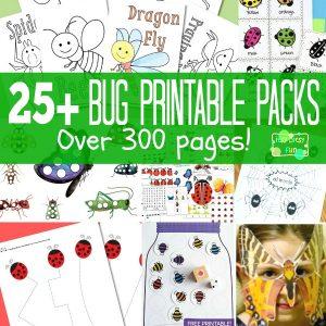 25+ Bug Printables for Kids