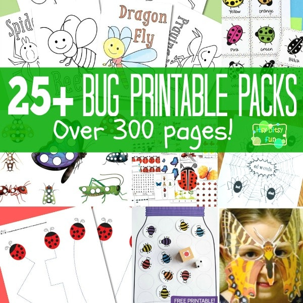 25+ Bug Printables for Kids